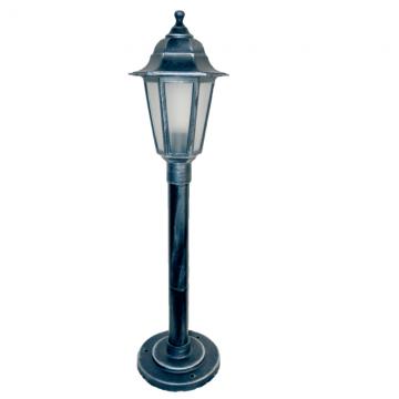 Садово-парковий світильник Silver Classic 0.8 м сріблястого кольору з матовим склом