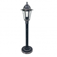 Садово-парковий світильник Silver Classic 0.8 м сріблястого кольору з прозорим склом