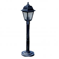 Садово-парковий світильник Silver Retro 0.8 м сріблястого кольору з матовим склом