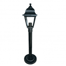 Садово-парковий світильник Silver Retro 0.8 м сріблястого кольору з прозорим склом
