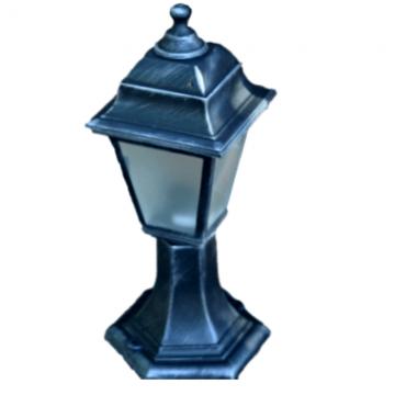 Садово-парковий світильник Silver Retro 40 см сріблястого кольору з матовим склом