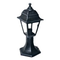 Садово-парковий світильник Silver Retro 40 см сріблястого кольору з прозорим склом