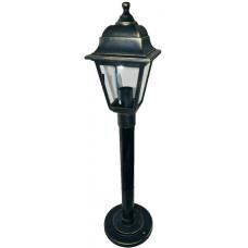 Вуличний світильник Барі Ретро 0.8 м мідного кольору з прозорим склом