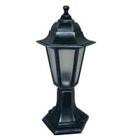 Садово-парковий світильник Silver Classic 40 см сріблястого кольору з матовим склом