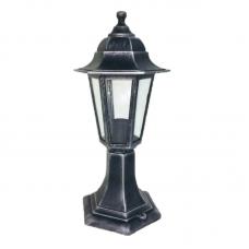 Садово-парковий світильник Silver Classic 40 см сріблястого кольору з прозорим склом