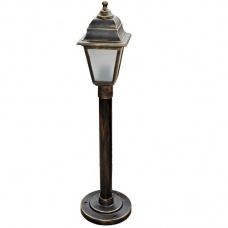 Вуличний світильник Барі Ретро 0.8 м мідного кольору з матовим склом