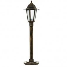 Вуличний світильник Барі Класик 0.8 м мідного кольору з матовим склом