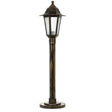 Вуличний світильник Барі Класик 1 м мідного кольору з матовим склом