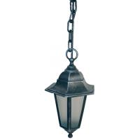 Світильник вуличний підвісний Silver Classik сріблення кольору з матовим склом