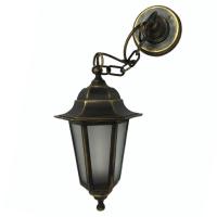 Світильник зовнішній підвісний Барі Класик мідного кольору з матовим склом