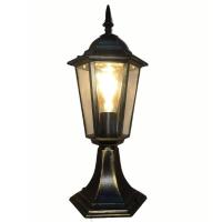 Світильник садово-парковий Барі Класик Металік стовпчик 45 см мідного кольору з прозорим склом