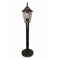 Садово-парковий світильник Барі Класик Металік стовп 0.8 м мідного кольору з прозорим склом