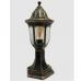 Садово-парковий світильник Фараон стовпчик 40 см мідного кольору з прозорим плафоном