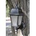 Садовий світильник настінний Silver Retro сріблястого кольору c матовим склом