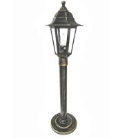 Вуличний світильник Барі Класик 0.8 м мідного кольору з прозорим склом