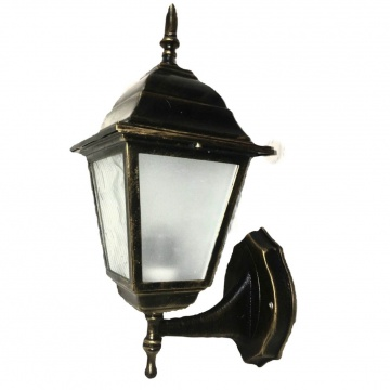 Садовий світильник бра Барі Ретро Металік мідного кольору з прозорим склом