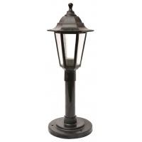 Садово-парковий світильник Брі Класик 0,8 м чорного кольору з матовим склом