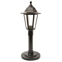Садово-парковий світильник Брі Класик 1м чорного кольору з матовим склом