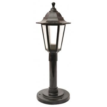 Вуличний ліхтар Брі Класик 0.8 м чорного кольору з прозорим склом
