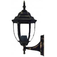 Вуличний світильник настінний DALLAS MINI мідного кольору з прозорим склом