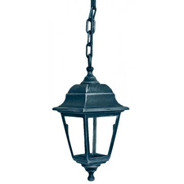 Світильник вуличний підвісний Silver Retro сріблення кольору з  прозорим склом