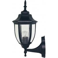 Вуличний світильник настінний DALLAS MINI чорного кольору з прозорим склом