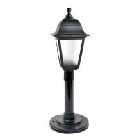 Садово-парковий світильник Брі Ретро 1м чорного кольору з прозорим склом