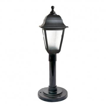 Садово-парковий світильник Брі Ретро 0.8 м чорного кольору з прозорим склом