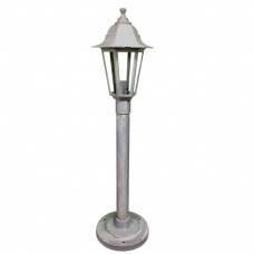 Cадово-парковий світильник White Classic стовп 0,8 м білого кольору з прозорим склом