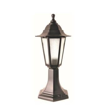 Садово-парковий світильник Брі Класик 40 см чорного кольору з матовим склом