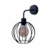 Настінний світильник металевий Бра Карамболь чорного кольору в стилі Лофт