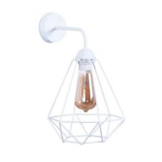 Настінний світильник металевий Бра Рубін білого кольору в стилі Лофт
