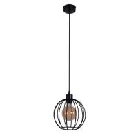 Подвесной светильник Карамболь большой черного цвета в стиле Лофт