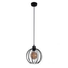 Підвісний світильник Карамболь маленький чорного кольору в стилі Лофт