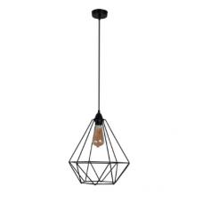 Підвісний світильник Рубін маленький чорного кольору в стилі Лофт