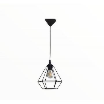 Підвісний світильник Кристал великий чорного кольору в стилі Лофт
