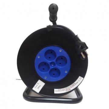 Подовжувач на котушці ВАЙПЕР 25м 4 розетки 2x2.50 мм
